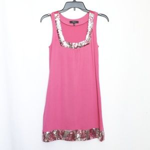Express Pink Sequin Cocktail Party Mini Dress XS